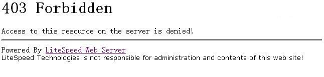 """空间出现""""403 Forbidden """"Access to this resource on the server is denied!""""解决方法"""